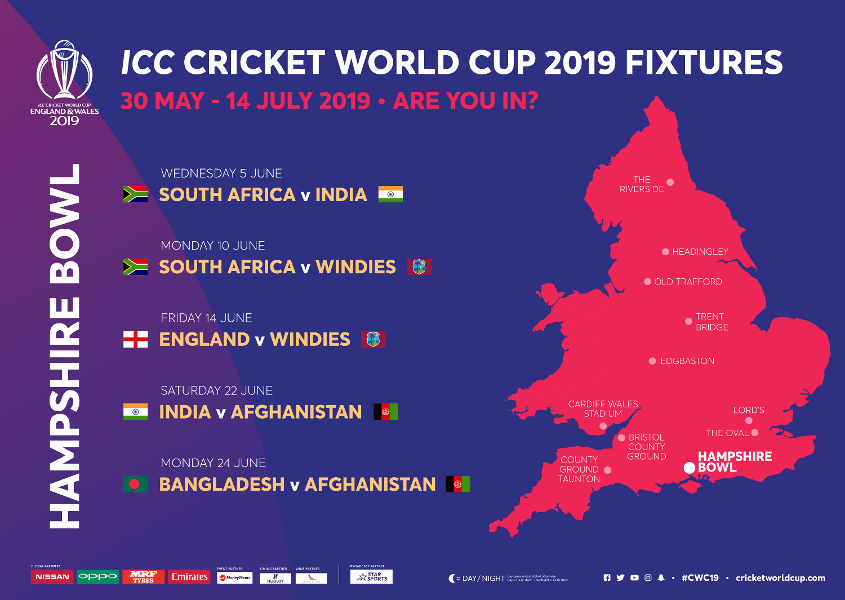 Hampshire Bowl Stadium ICC Cricket World Cup 2020 Venue