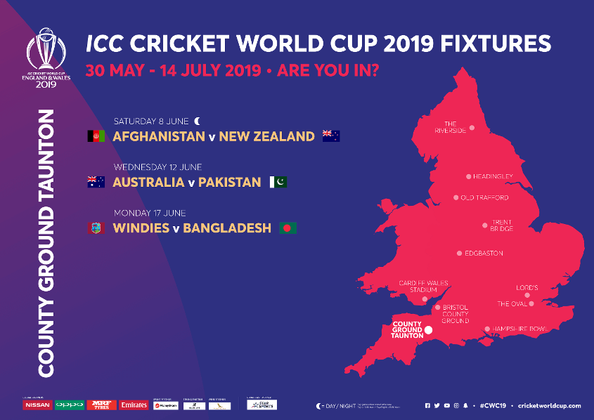 County Ground Taunton Stadium ICC Cricket World Cup 2020 Venue