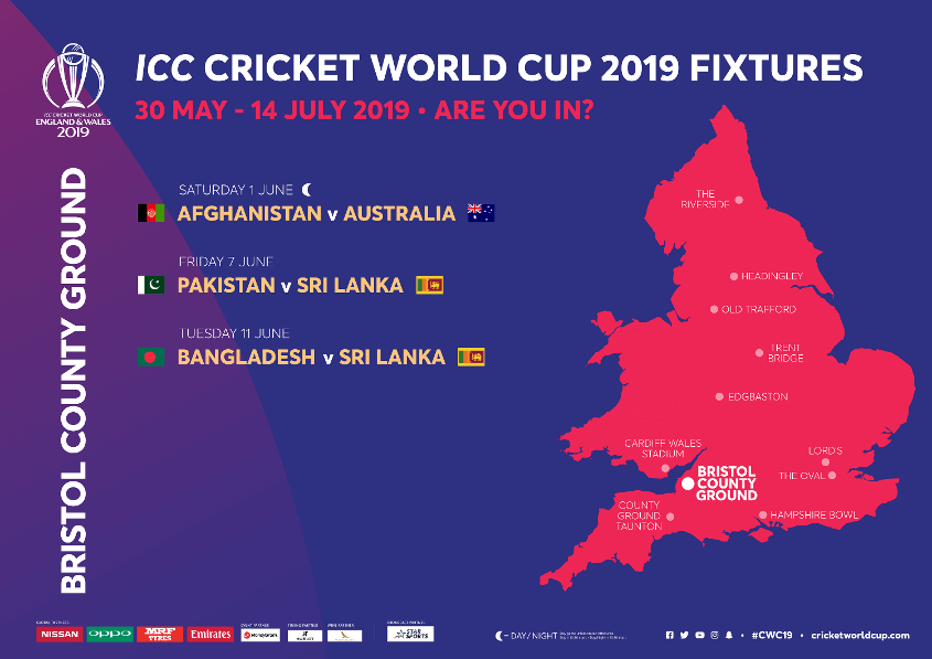 Bristol County Ground ICC Cricket World Cup 2020 Venue