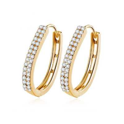 Shining Diva Fashion 18k Gold Plated AAA Diamonds Stylish Earrings