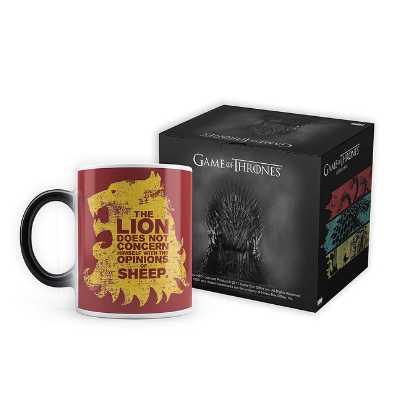 Game of Thrones Lion Sheep Morphing Magic Heat Sensitive Mug