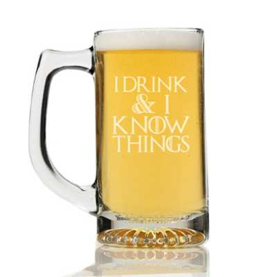 Game of Thrones I Drink and I Know Things Beer Mug