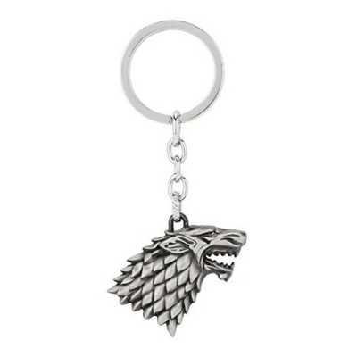 Game of Thrones House Stark Direwolf Keychain