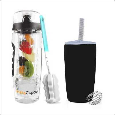 InstaCuppa Fruit Infuser Water Bottle