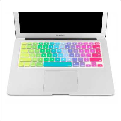 MacBook Silicon Keyboard Cover Skin - Rainbow