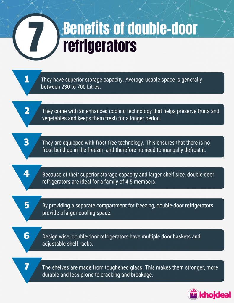 Benefits of double-door refrigerators
