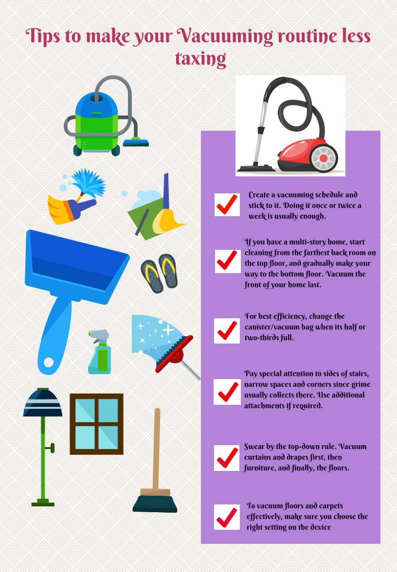 Tips to make your Vacuuming routine less taxing