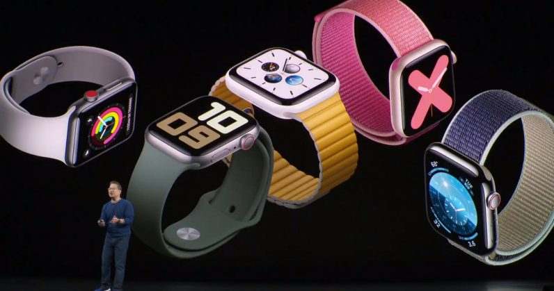 Image of five apple watches