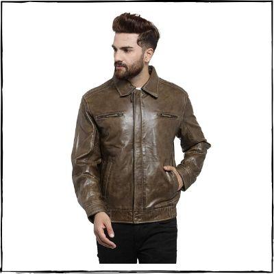 Teakwood-Leathers-Olive-Green-Genuine-Leather-Jacket