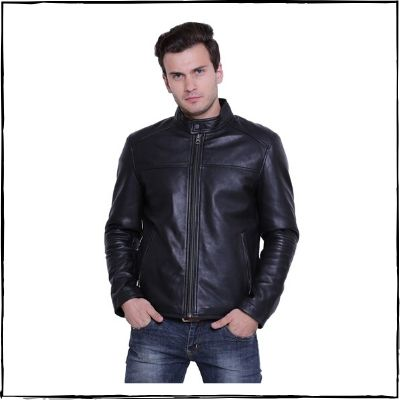 Justanned-Black-Solid-Leather-Jacket