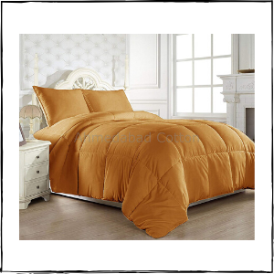 HUESLAND-by-Ahmedabad-Cotton-Ultra-Plush-Microfibre-Double-Comforter-Mustard-–-Best-Cooling-Blanket